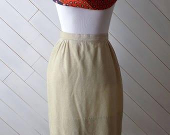 Goldfinger | Vintage 1950s/ 1960s Gold Koret of California Pencil Skirt | Xs