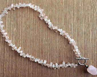 Silpada pink quartz necklace