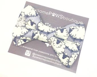 Sheep Bow Tie | Dog Bow | Dog Bow Tie | Bow Tie For Dogs | Boys Bow Tie | Dog Collar Bow