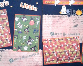 Halloween two pre-made scrapbook pages by Juliet