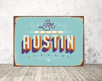 Austin Wall Art austin wall art | etsy