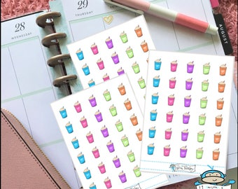 Frapuccino Planner Stickers - Coffee Date Stickers - Planner Decoration (MM017)