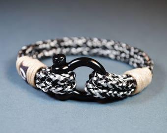 Gray Bracelet / Grey Bracelet / Boyfriend gift / Gold Bracelet / Boho Bracelet / Christmas Present / Unique Gift / Gemstone Bracelet