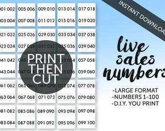 Live Sales Numbers 1-100