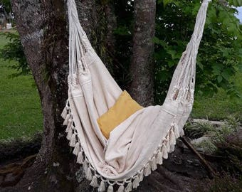 luxury hammock chair 6 feet long extra big hammock chair white chair hammock chair   etsy  rh   etsy