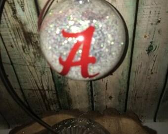 Alabama Ornament, Alabama Christmas Ornament, College Ornaments, Personalized Christmas Ornaments, Glitter Ornaments, Ornament Exchange Gift