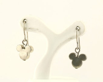 Vintage Mickey Mouse Drop Earrings 925 Sterling 239