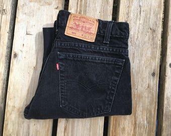 "Levi's 505 31"" Black High Waist Vintage Jeans"