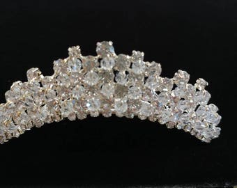 Small crystal rhinestones tiara