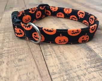 halloween dog collar - pumpkin dog collar- boy dog collar - girl dog collar - halloween collar - pumpkin collar