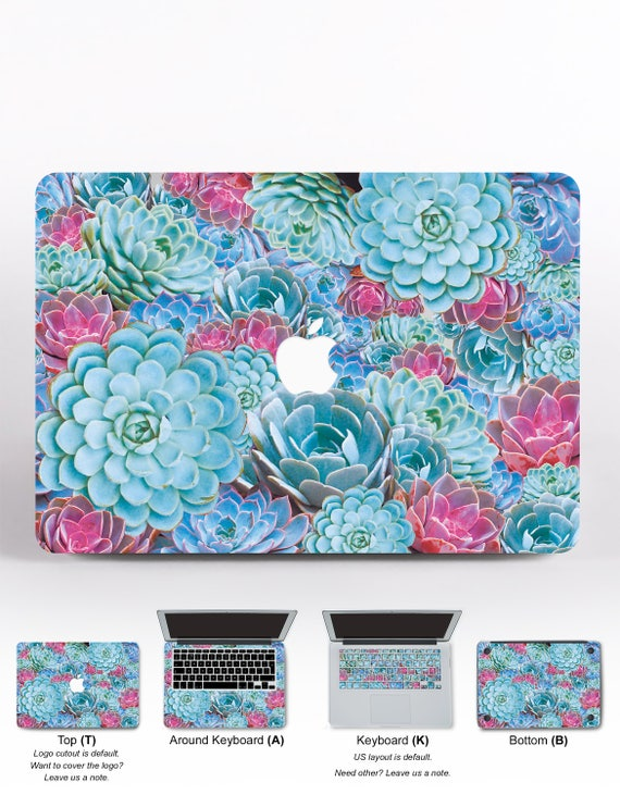 Succulents Laptop Decal For Laptop MacBook Decal MacBook Air MacBook Pro Skin 15 MacBook Pro MacBook Air 11 Decal For MacBook Sticker DR131