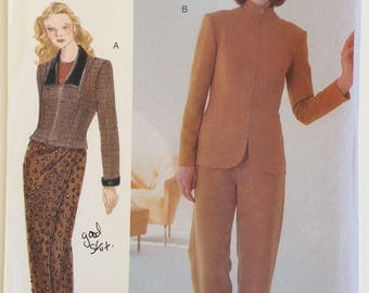 Very Easy Very Vogue sewing pattern 9703 - Misses' jacket, wrap skirt and pants