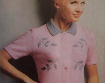 Vintage Patons knitting book no. 710 - cardigans and sweaters