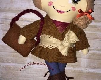 Little Miss Boho Fabric Rag Doll | Shabby Doll | Handmade Doll | Soft Toy | Cloth Doll | Softie | Dolly