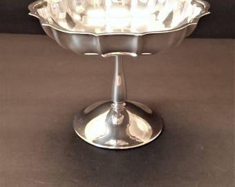 International Silver Chippendale Pattern Pedestal Bowl