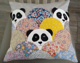 Peeping Panda Cushion, Custom Animal Cushion, other animals available