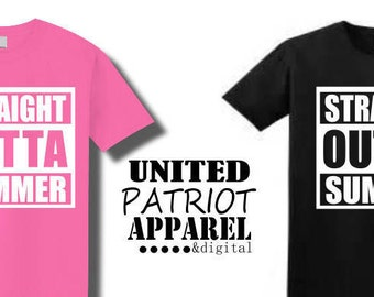 Straight Outta Summer, Straight Outta, Funny Back to School Shirts, Summer Shirts, Funny Shirts,