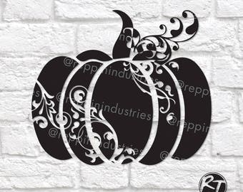Pumpkin Svg, Fall Svg, Halloween Svg, Halloween Dxf, Swirly, Svg Files for Cricut, Die Cuts, Decal, Dxf, Svg Files, Eps Files, Silhouette