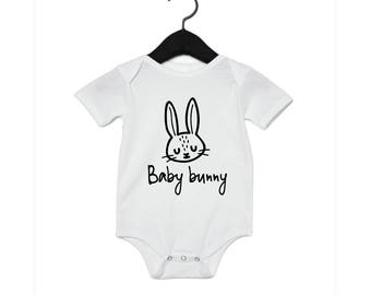 Baby Bunny - Youth Shirt Toddler Shirt Baby Onesie - Wilderness Camp Animals Cute T-shirt Farming Farm Mama Papa Rabbit Hop Zoo
