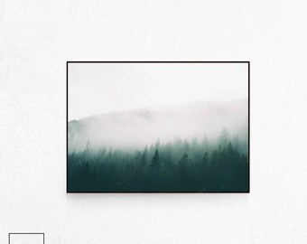 Forest Photography, Forest Print Large, Forest Poster Art, Forest Poster, Forest Print, Forest Wall Art, Scandinavian Print, Scandi Print