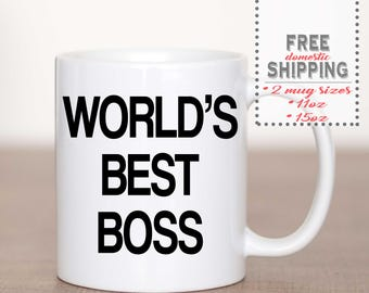 World's Best Boss Mug, The Office, Dunder Mifflin Mug, Michael Scott Quote, TV Show, Boss Gift, Gift You Buy For Yourself - Free Shipping