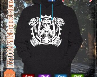 Skull worn SVG EPS DFX Cut files Silhouette Cameo cricut vinyl decal, vinyl shirt