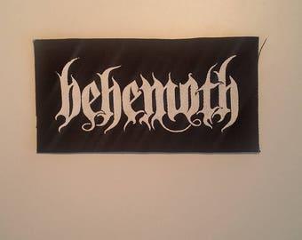 Behemoth logo patch black metal