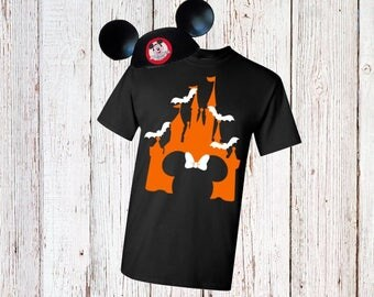 Women's Disney Castle Halloween Shirt