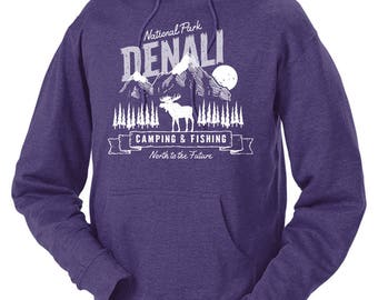Denali National Park Moose Adventure Unisex Hoodie