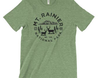 Mount Rainier National Park Adventure Unisex Bella Canvas Tshirt