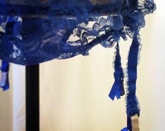 Vintage 1970's Hot Blue Garter Panty
