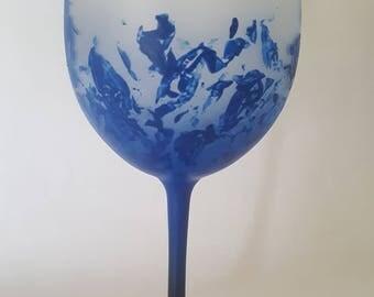 Splattered Frosted Blue