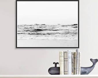 Minimalist Ocean Wall Art, Beach Prints, Abstract Ocean Photography Coastal Prints, Beach Art Download decor large wall art prints
