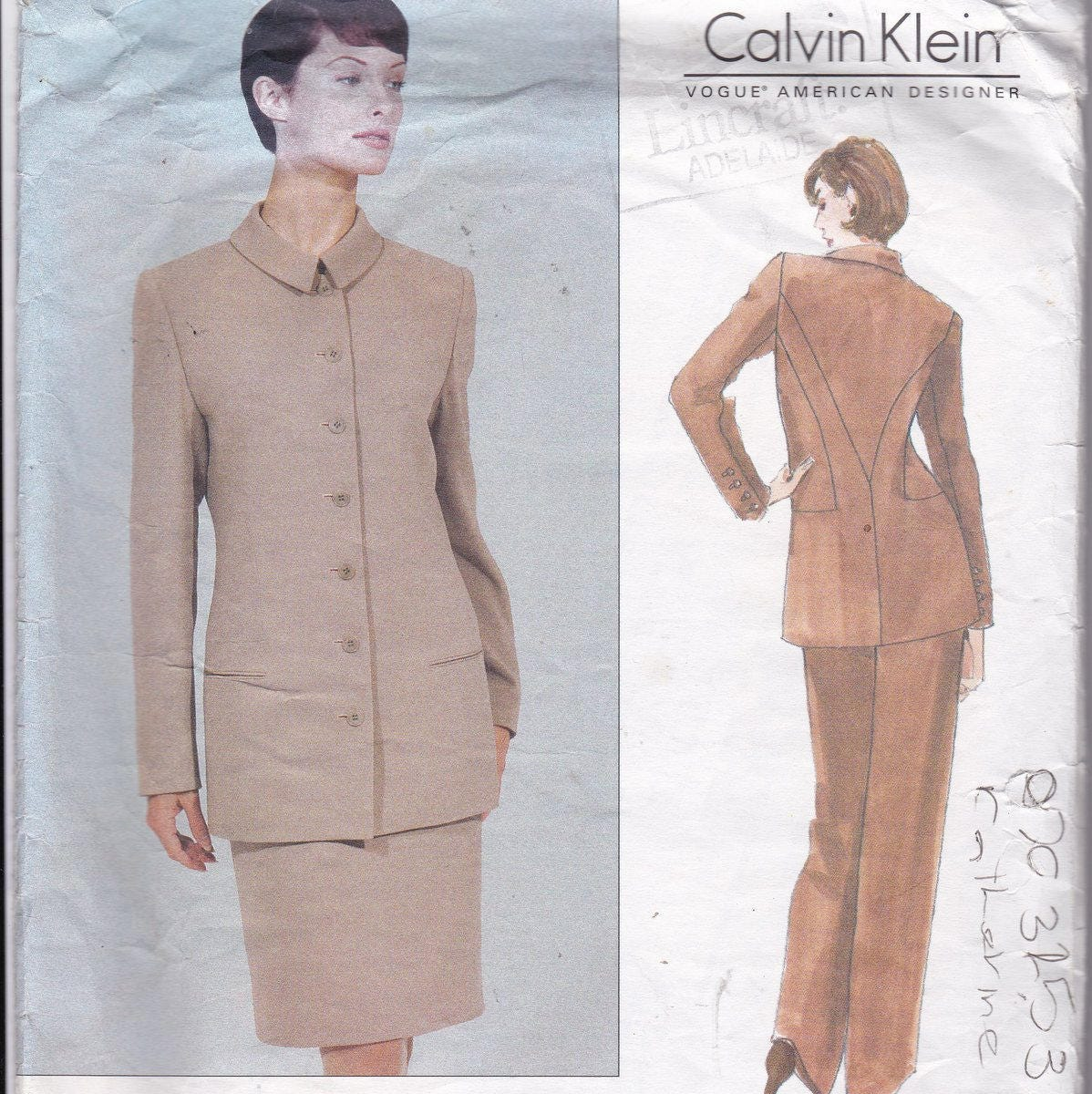 Calvin klein sewing pattern for women high fashion designer sold by patternsfromoz jeuxipadfo Images