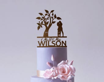 Wood Cake Topper Mr and Mrs Cake Topper Wedding Cake Topper for Wedding Cake Decorations Rustic Wedding Cake Topper Engagement Cake Topper
