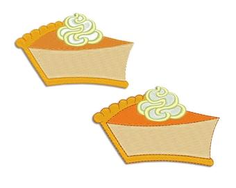 Pumpkin pie Embroidery design - Machine embroidery design