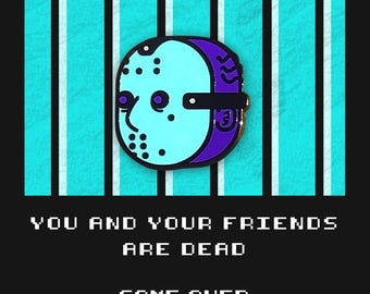 Enamel Pin NES Classic Jason Friday the 13th