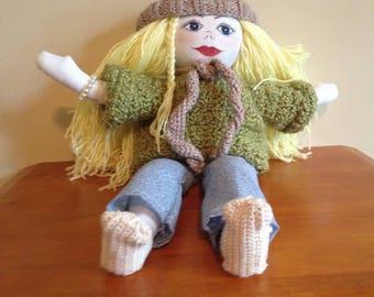 Peggy Sue, Handmade Rag Doll