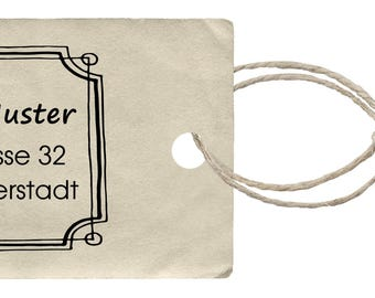Address stamp 04 personalizable 60 x 45 mm