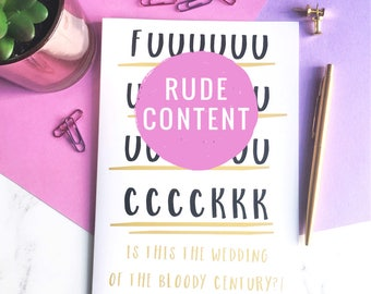 Wedding Of The Century Card, Rude Wedding Card, Adult Wedding Card, Funny Wedding Day Card, Rude Adult Card, Swearing Card, Wedding Day Card