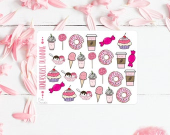 Pink Treats Icons Mini Sticker Sheet