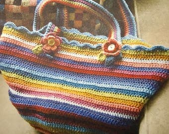 Colorful crocheted purse
