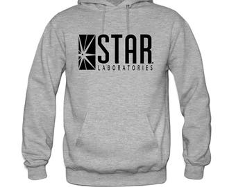 Star Laboratories Star Labs Hoodie Sweatshirt Sweater S.T.A.R Hooded Pullover -Premium Quality- UNISEX -Super Soft - Flash Fans Rejoice!