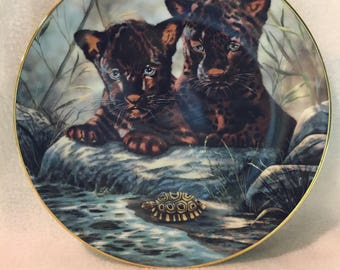 Princeton Gallery Just Cubs Collector Plate - 'Curious Duo' (#232)
