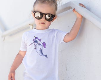 Narwhal Halloween Shirt - toddler shirt - bodysuit - Unicorn shirt