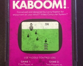 Kaboom! Video Game for Atari 2600