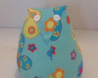 Flowered Owl Stuffed Animal