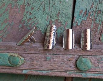 Silver Ring / Bague en Argent martelée ou lisse