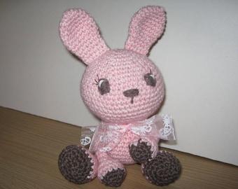 Handmade, Crochet Toy, Soft Toy, Stuffed Animal, Amigurumi Bunny - Blossom