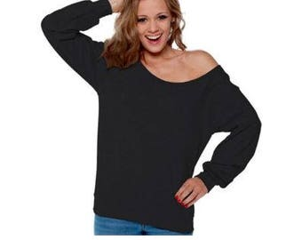 Off Shoulder Top Off Shoulder Sweater Off Shoulder Sweatshirt Slouchy Oversized
